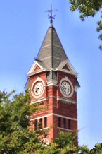 Samford Hall clock tower